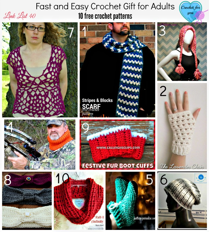 Fast And Easy Crochet Gift For Adults 10 Free Crochet Patterns