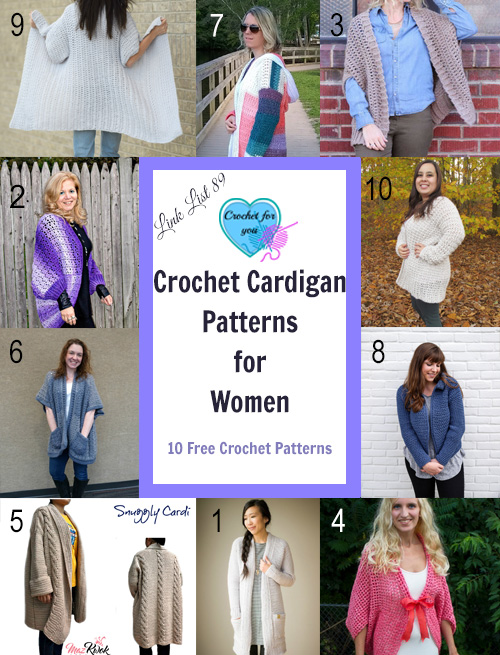 Crochet Cardigan Patterns for Women