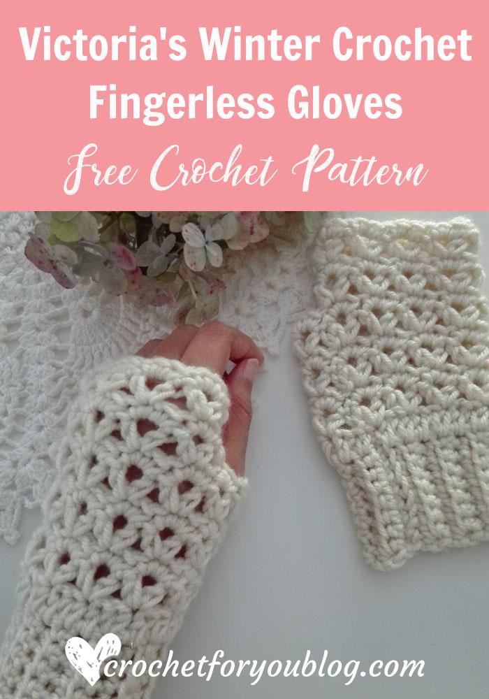 Victorias Winter Crochet Fingerless Gloves Free Crochet Pattern