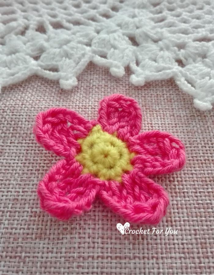 Crochet Simple Flower 4 Crochet For You
