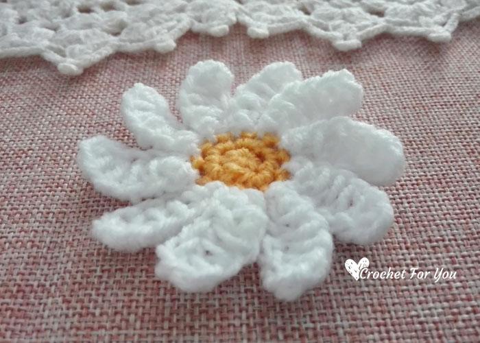 Crochet Daisy Flower Pattern