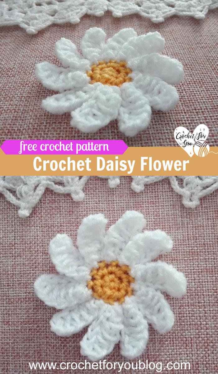 Crochet daisy flower free pattern 3 crochet for you crochet daisy flower free pattern izmirmasajfo