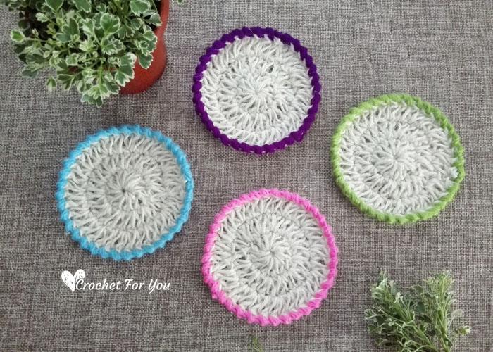 Jute Hemp Crochet Coasters Free Pattern 2 Crochet For You