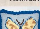 Butterfly Pillow-Graphed Crochet Artwork