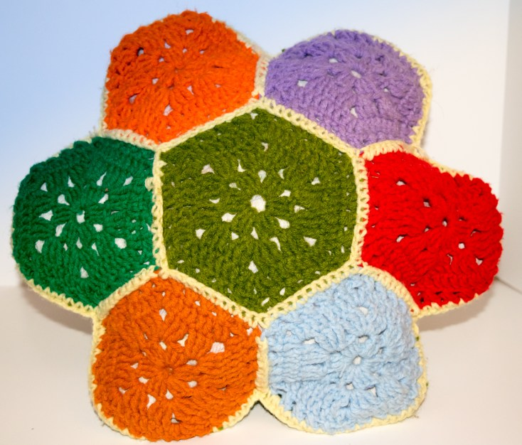 Granny Hexagon Pillow