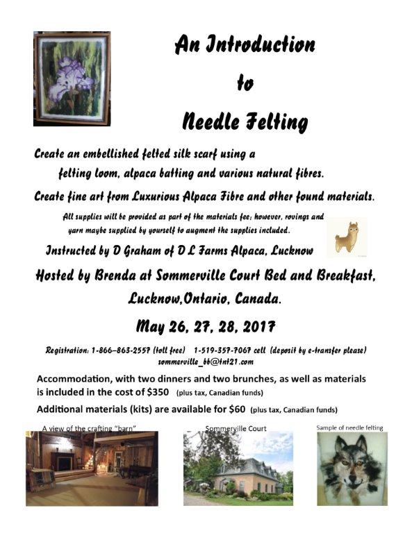 Introduction to Felting Weekend Retreat