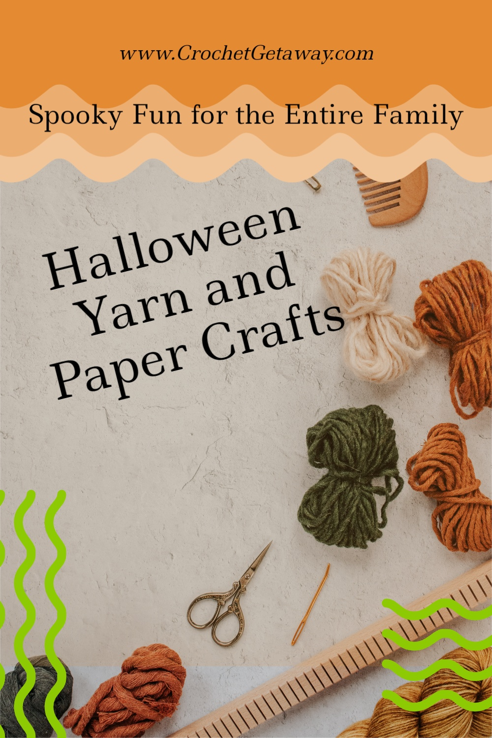 Halloween Crafts with Yarn and Paper
