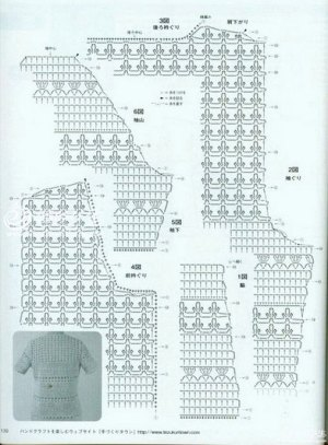 Pretty and feminine crochet cardigan pattern diagram ⋆ Crochet Kingdom