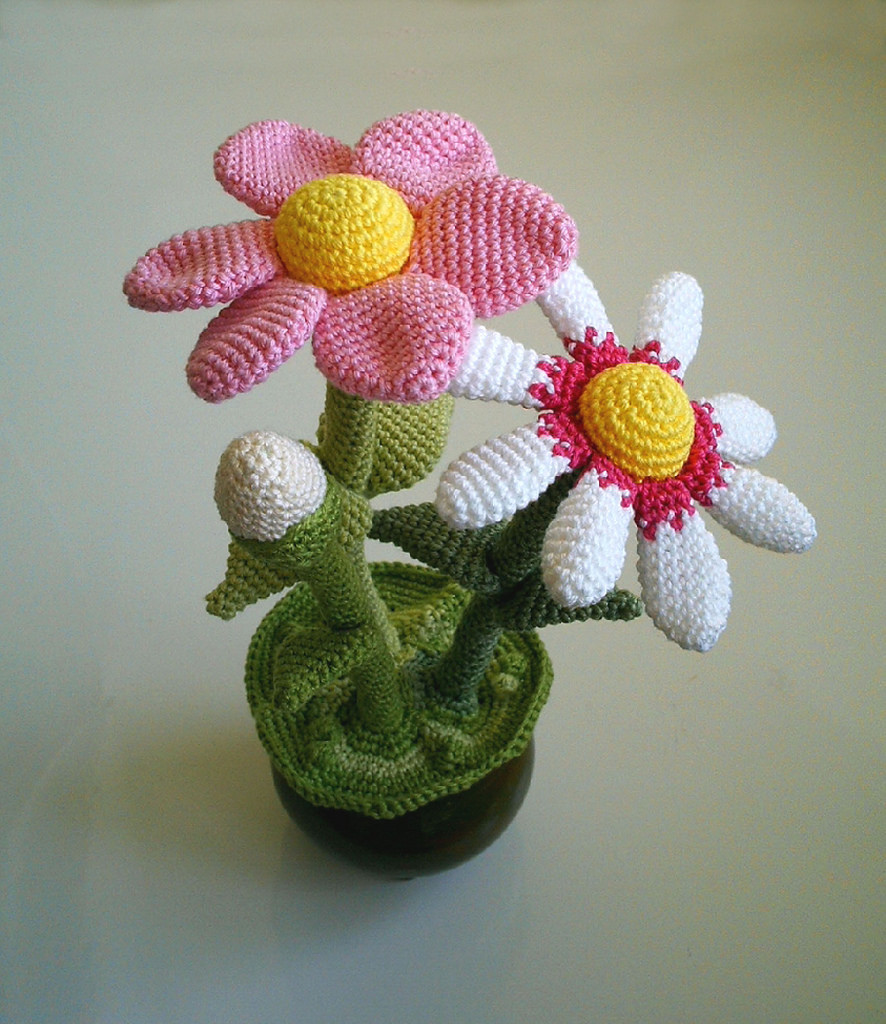 Daisy Crochet Pattern Diagram