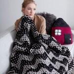 Mosaic Chevron Knit Blanket Free Crochet Pattern Crochet Kingdom