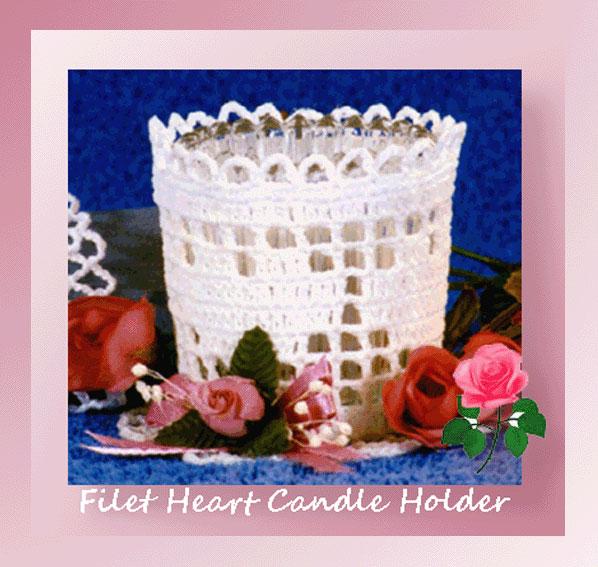 Filet Heart Candle Holder