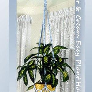Sugar & Cream Easy Plant Hanger