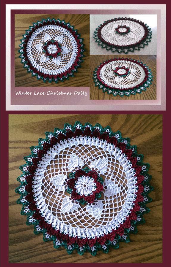 Crochet Doily Patterns Crochet Christmas Patterns Winter Lace