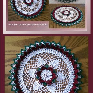 Winter Lace Christmas Doily