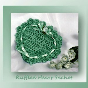 Ruffled Heart Sachet