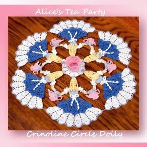Alice's Tea Party Crinoline Circle Doily