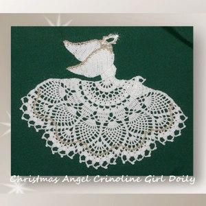 Christmas Angel Crinoline Girl Doily