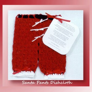 Santa Pants Dishcloth