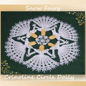 Snow Fairy Crinoline Circle Doily