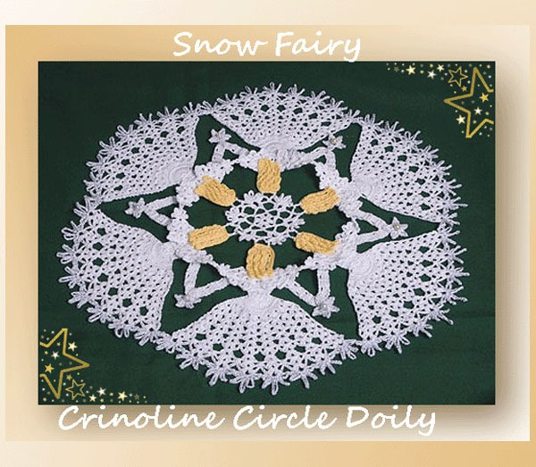 Snow Fairy Crinoline Circle Doily