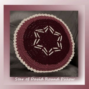 Star of David Round Pillow