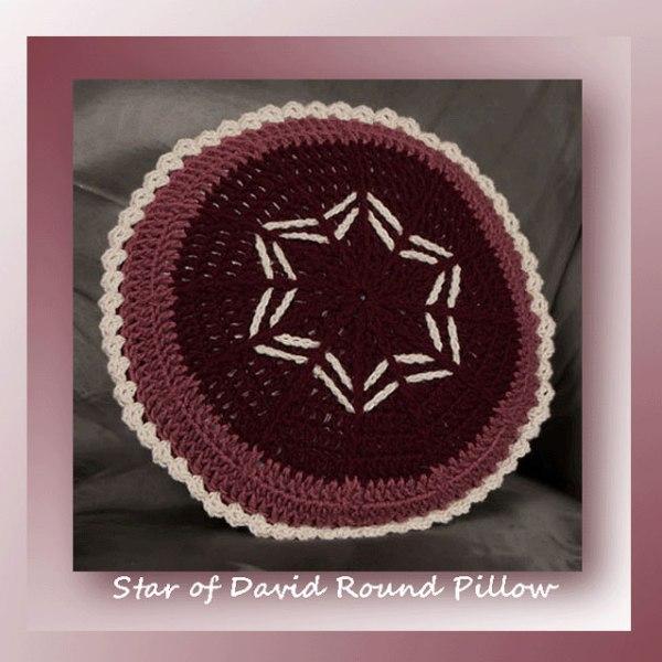 Star of David Round Pillow