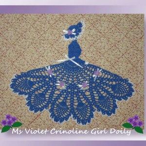 Ms Violet Crinoline Girl Doily