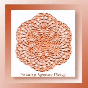 Peachy Spokes Doily