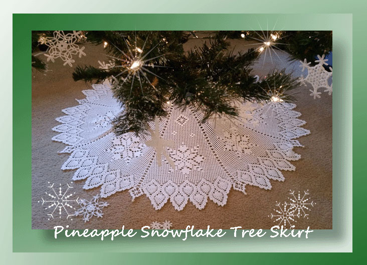 Pineapple Snowflake Tree Skirt 699 Crochet Memories