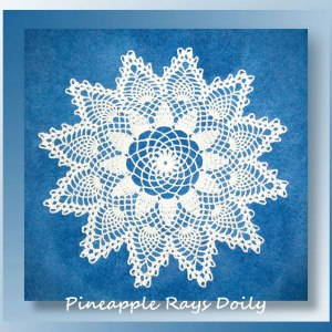 Pineapple Rays Doily