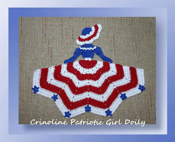 Crinoline Patriotic Girl Doily