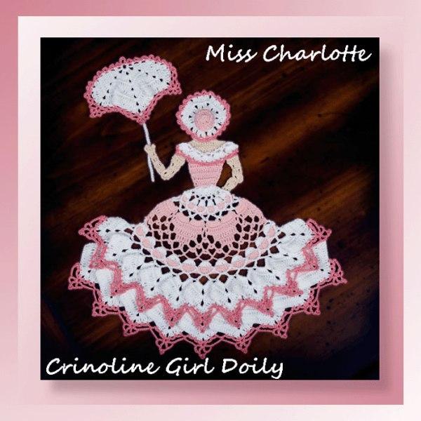 Miss Charlotte Crinoline Girl Doily