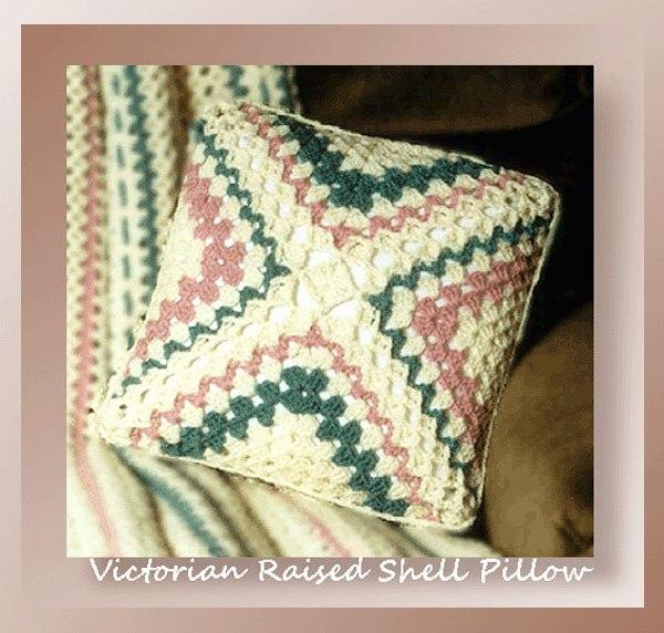 Victorian Raised Shell Pillow