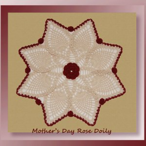 Mother's Day Rose Doily