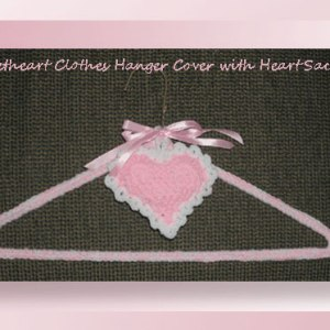 Sweetheart Clothes Hanger Cover with Heart Sachet