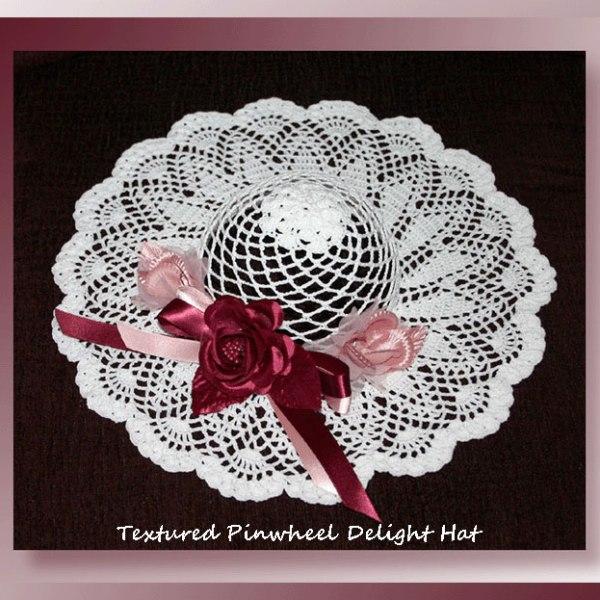 Textured Pinwheel Delight Hat
