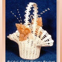 Bridal Shell Flower Basket