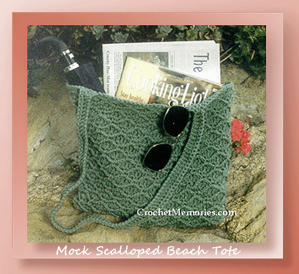 Mock Scalloped Beach Tote