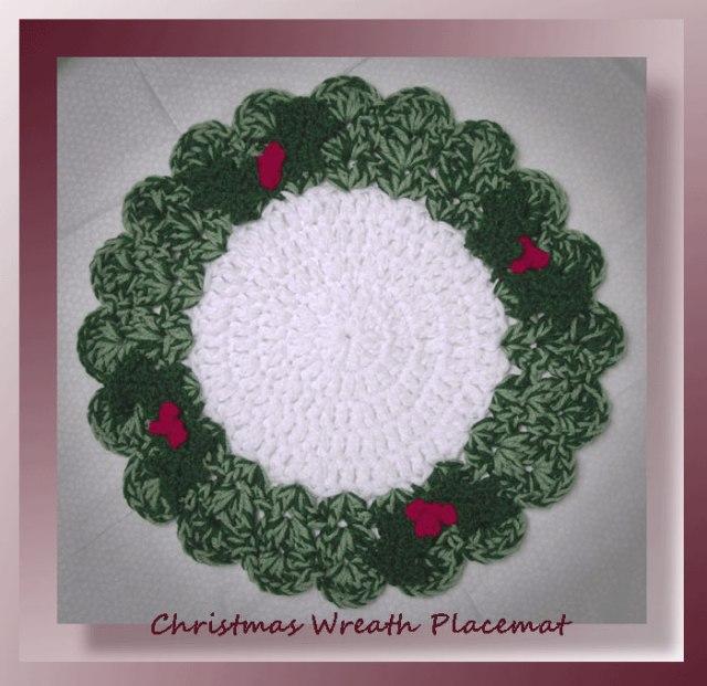 Christmas Wreath Placemat 495 Crochet Memories