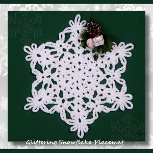 Glittering Snowflake Placemat