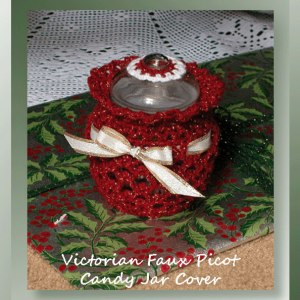 Victorian Faux Picot Candy Jar Cover