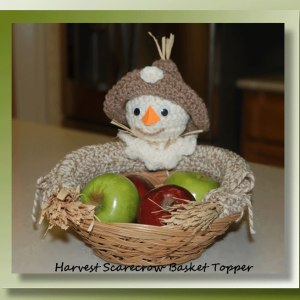 Harvest Scarecrow Basket Topper