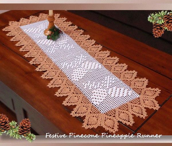 Festive Pinecone Pineapple Runner