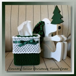 Country Calico Christmas Tissue Cover