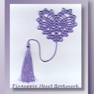 Pineapple Heart Bookmark
