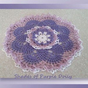 Shades of Purple Doily