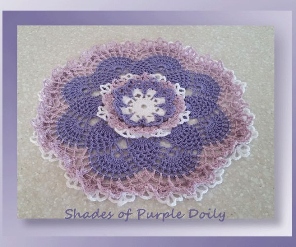 Shades of Purple Doily    <br /><br /><font color=