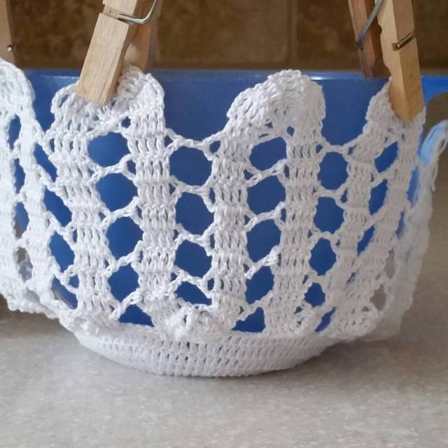 In the works a Bruges Lace basket pattern