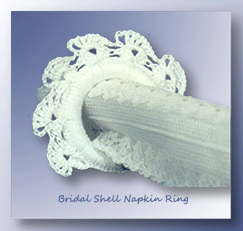 Bridal Shell Napkin Ring    <br /><br /><font color=