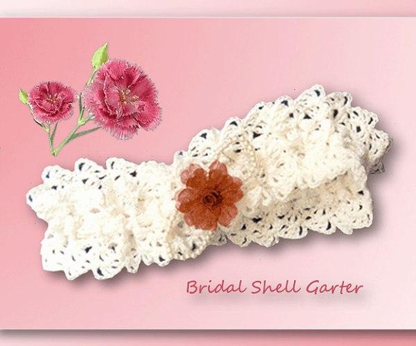 Bridal Shell Garter     <br /><br /><font color=